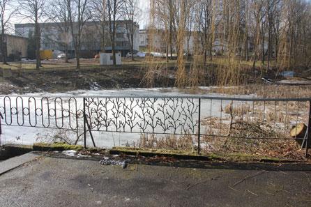Der Baucontainer ist sichbares Zeichen für den Beginn der Sanierung des Dudziak-Parks.